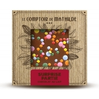 "Tablette de chocolat lait ""Surprise"" Le Comptoir de Mathilde"