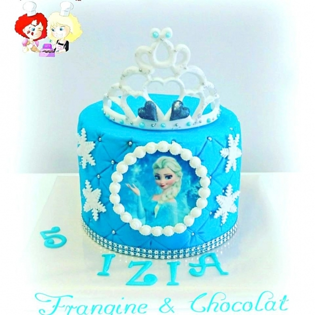 Cake design blue princesse 15 PARTS