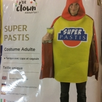 COSTUME ADULTE SUPER PASTIS - TU