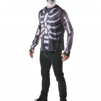 T-shirt et cagoule Skull Trooper Fortnite™ adulte (Medium)